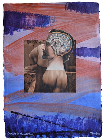 Between Heaven and Hell No. 3, collage, painting, porn, erotica, neo-expressionism, david murphy
