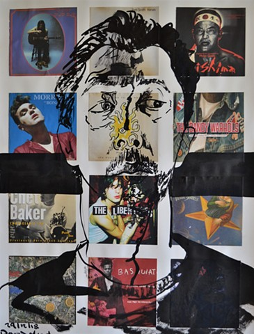 Self-Portrait Within Culture No. 9, david murphy, collage, drawing, indian ink