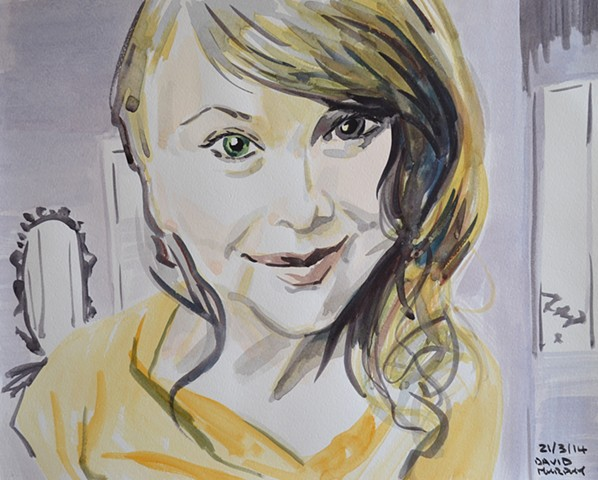 Femme Fatale No. 1, david murphy, watercolour, webcam