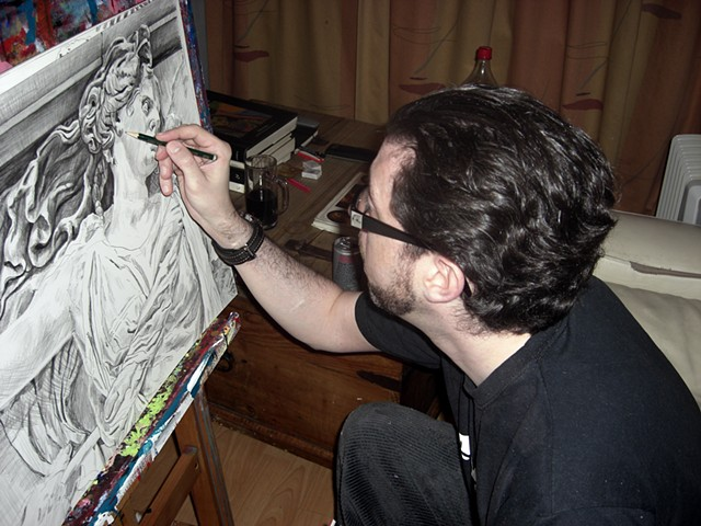 david murphy, artist, painter, dublin, ireland, irish, cypher, the panic artist, david, brendan, murphy
