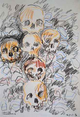 Skulls, Neo-Expressionism, New Image, Expressionism, Realism, Art Brut, Raw Art, Outsider Art