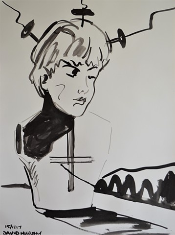 Monument To Childhood No. 5, drawing, indian ink, David Murphy, Ireland, Irish, dublin