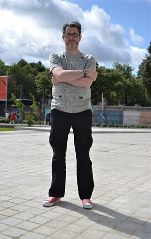David Outside The National Gallery of Ireland No. 5, irish, artist, dublin, painter, ireland, writer