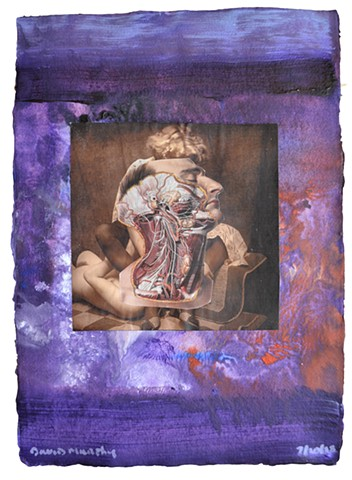 Between Heaven and Hell No. 2, collage, painting, porn, erotica, neo-expressionism, david murphy