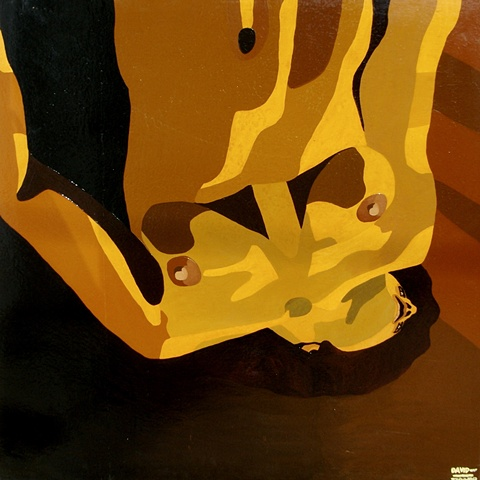 Large Up-Sidedown Nude, 1988, david brendan murphy, cypher, the panic artist