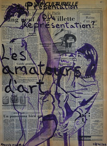 Art Lovers, newspaper, porn, painting, text, david murphy, french, france, 1985