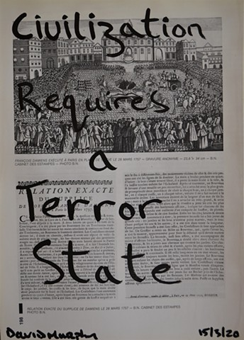 Civilisation Requires a Terror State No. 1, drawing, david murphy