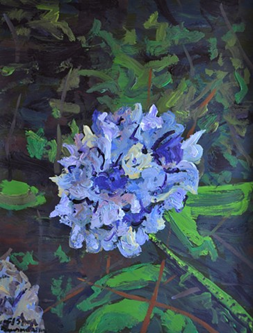 secret flower, garden, botanical, painting, acrylic, irish, ireland, dublin, david murphy
