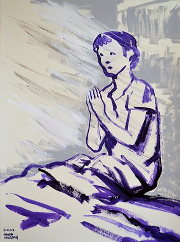 Praying Boy, Neo-Expressionism, New Image, Expressionism, Realism, Art Brut, Raw Art, Outsider Art