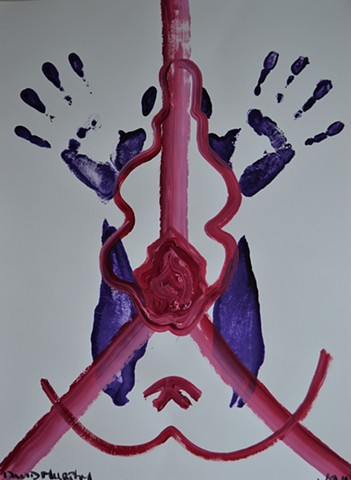 Surrendering to Desire, acrylic, imprint, abstract, hand prints, irishart, dublinart, davidmurphy
