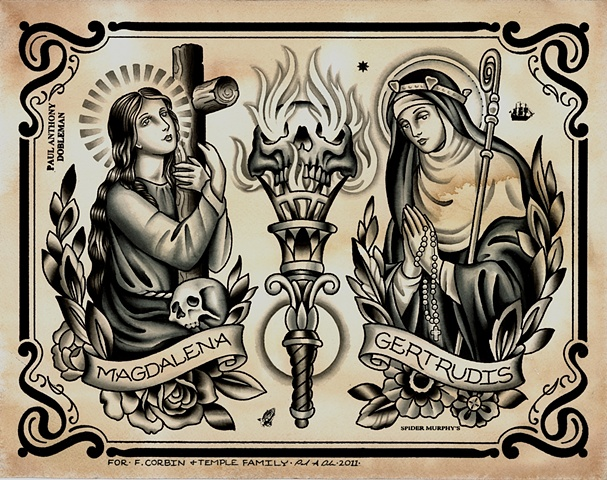 Religious Tattoo Flash, Black and Grey Tattoo Flash