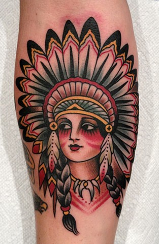 Native Tattoo Indian Chief