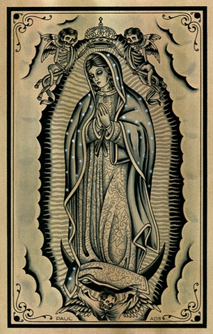 Guadalupe tattoo painting