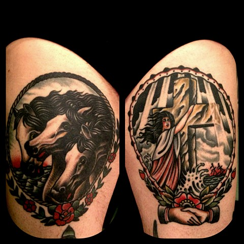 Pharaoh's Horses Tattoo, Rock of Ages Tattoo