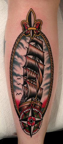 Ship Tattoo, Nautical Tattoo