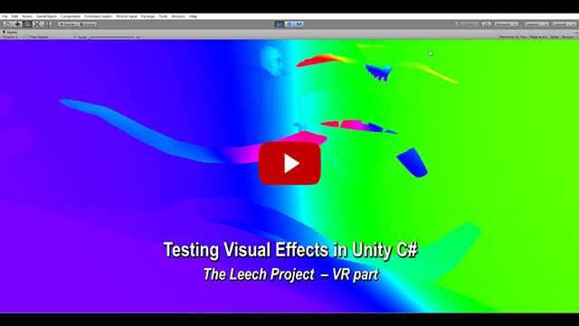Visual Effects Test in Unity & C# - VR part