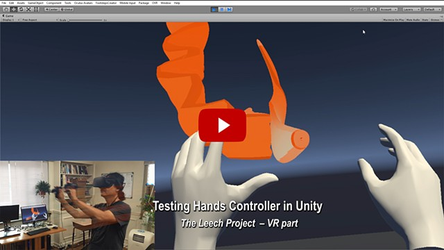 Hands Controller Test in Unity - VR part