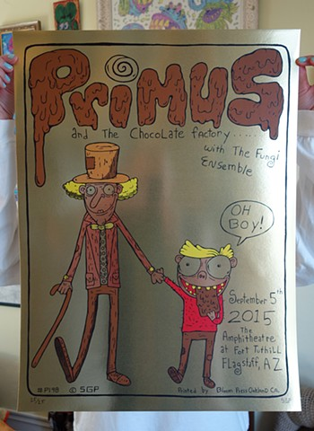 primus and the chocolate factory  golden ticket variant edition of 25