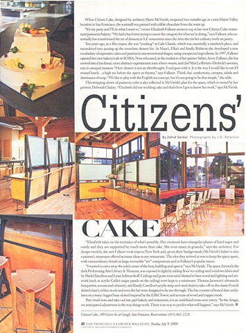 Citizen Cake article from the San Francisco Examiner magazine