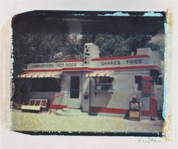 Polaroid dye transfer