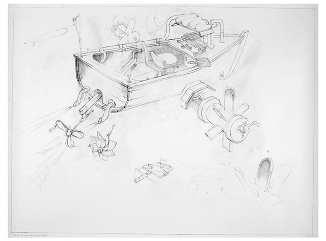 Boat with Hibachi Engine