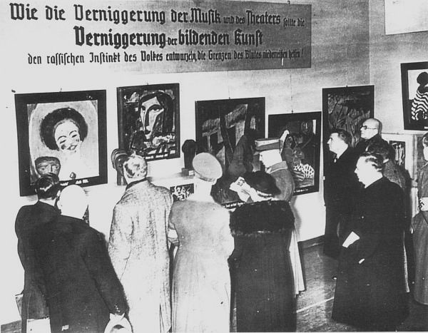Visitors at the 1937 Degenerate Art Show