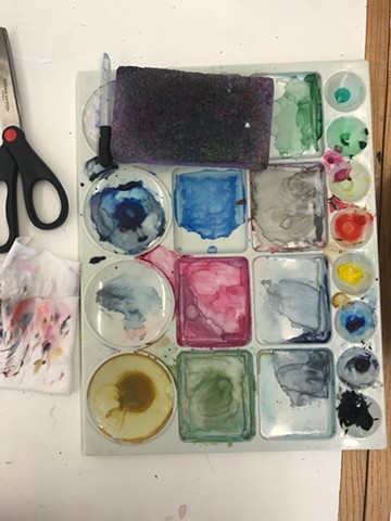 In my opinion, a messy palette means that you're making something interesting! Ha! Penland Residency 2020