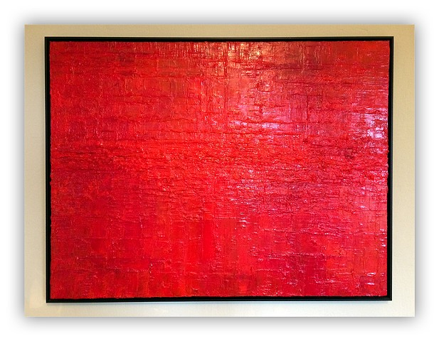 acrylic texture red abstract