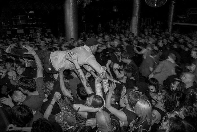 Subhumans crowd at Santos Party House, NYC