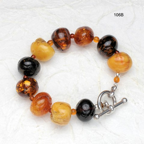 exceptional amber, silver toggle