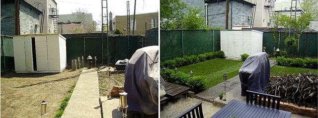 Williamsburg Brooklyn Backyard Before & After
