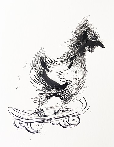 Chicken on a Board