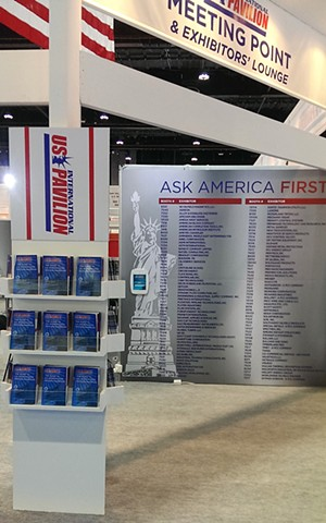 US International Lounge Entry at the ADIPEC Tradeshow, Interior View C
