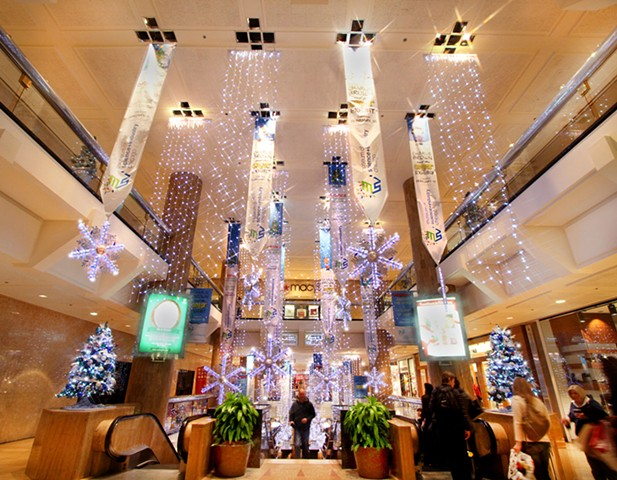 Water Tower Place Holiday Decor, Magnificent Mile, Chicago.
