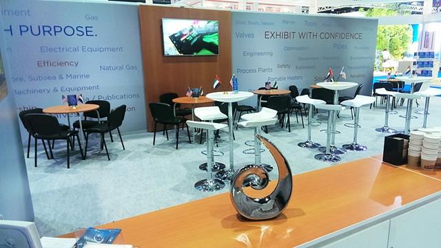 US International Lounge at the ADIPEC Tradeshow