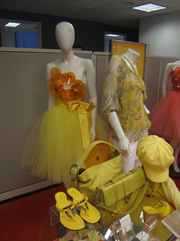 Macy's Corporate Marketing: Welcome Back Color Campaign, Showroom Proposal, Women's Monochromatic Yellow Presentation