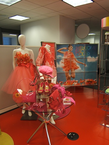 Macy's Corporate Marketing: Welcome Back Color Campaign, Showroom Proposal, Women's Monochromatic Red Presentation