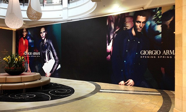 Geogio Armani Visual Graphic Storefront Example