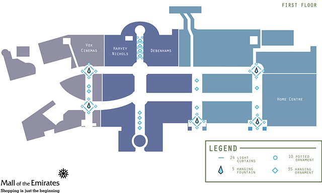 Mall of Emirates, Decor Floorplan