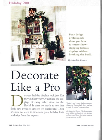 "George Little Management: Press Coverage, Article ""Decorate Like a Pro"", Gifts and Dec Magazine  in partnership with the New York International Gift Fair"