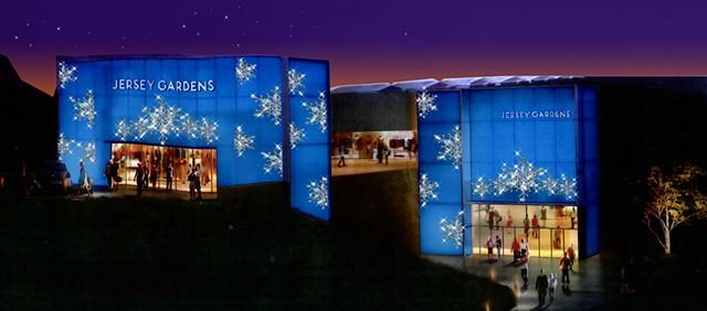 Jersey Gardens Holiday Facade Design
