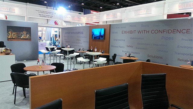 US International Lounge at the ADIPEC Tradeshow