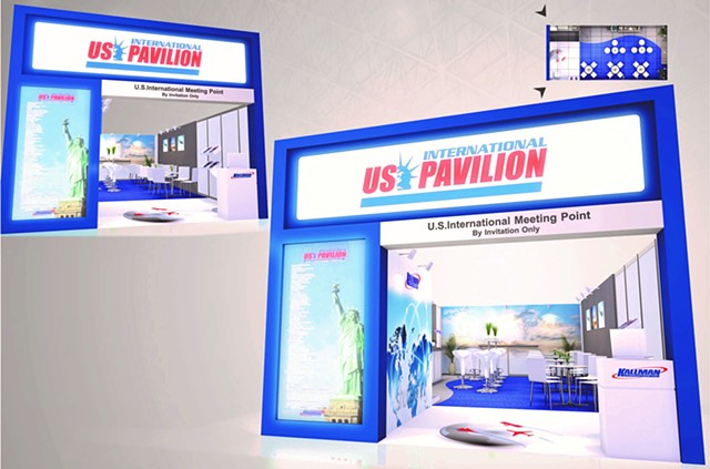 Rendering for US International Lounge at Seoul Airshow