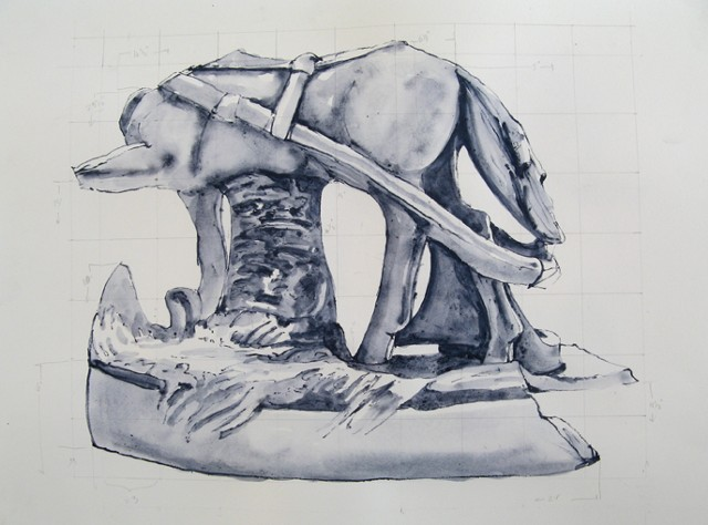 Sketch for sculpture