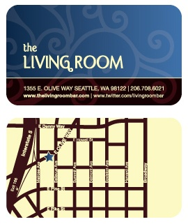 The Living Room - Business Card