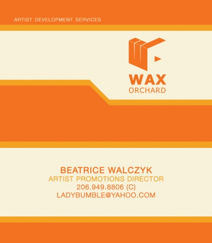 Wax Orchard : Business Card
