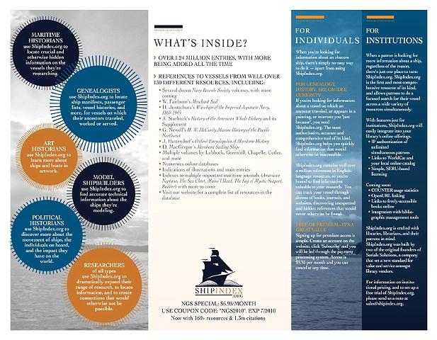 Ship Index - Brochure Back