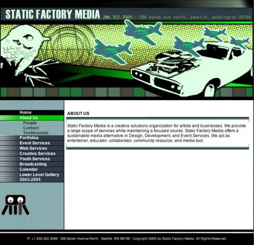 Static Factory Media : Website