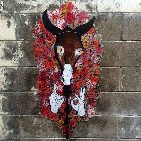 Plague Donkey Wheatpaste