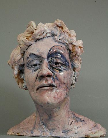 Ceramic sculpture, low temperature glaze